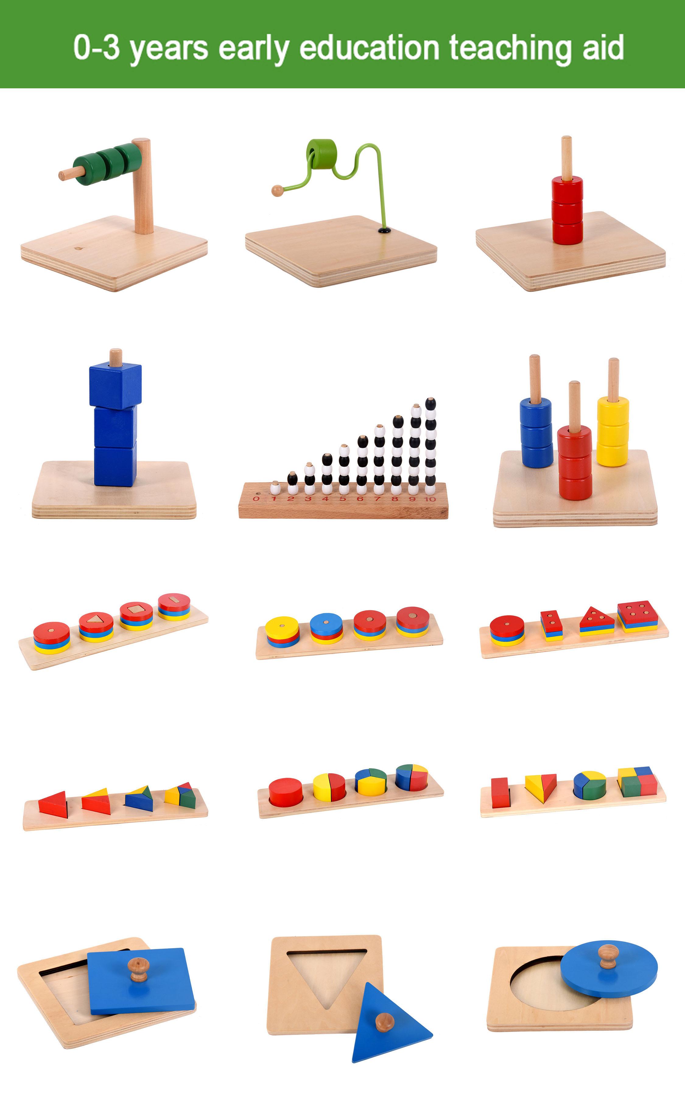 새로운 2019 몬테소리 가구 유치원 몬테소리 교육 장난감 나무 몬테소리 어린이