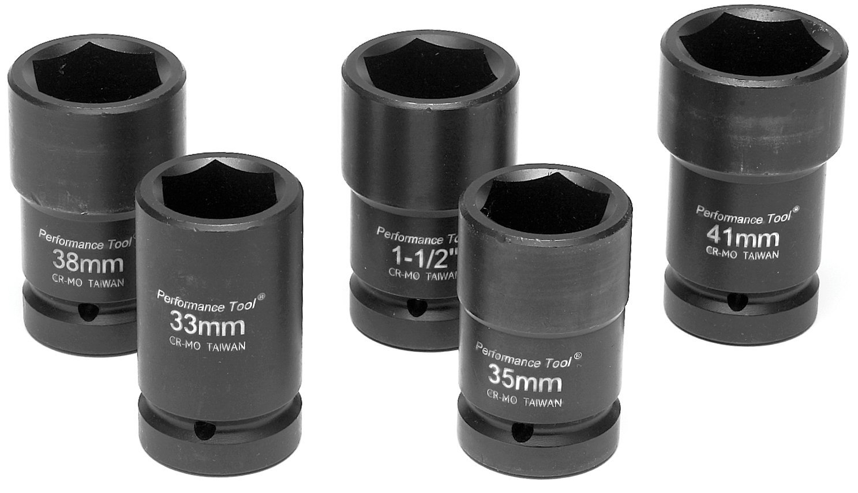 "Sunex Tools 54121 1/"" Drive Combination Budd Wheel Impact Socket 41mm x 21mm"