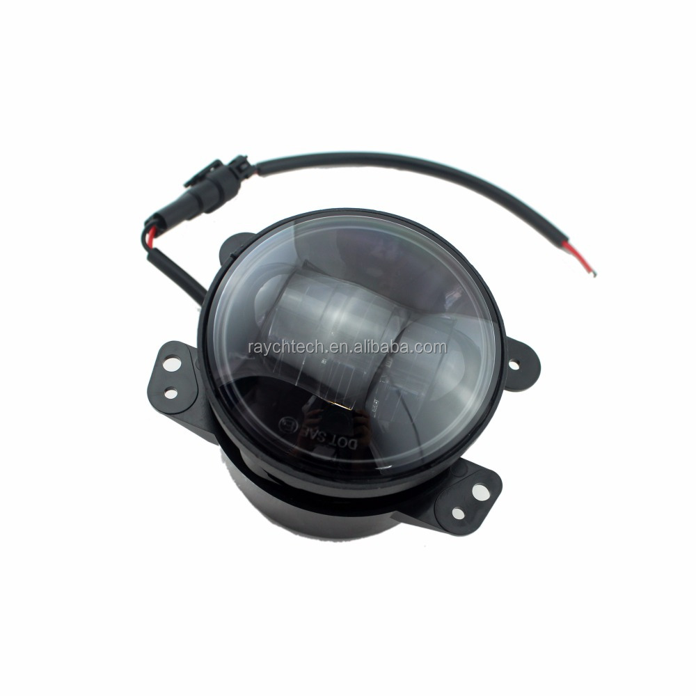 "J eep wrangler JK 30w 4"" fog lights with angel eyes fog lamp With DRL Halo Ring car roof fog lamp for jeeps wrangle truck"