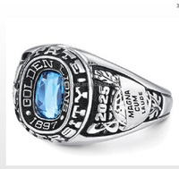custom mens rings sterling silver high school class rings with names