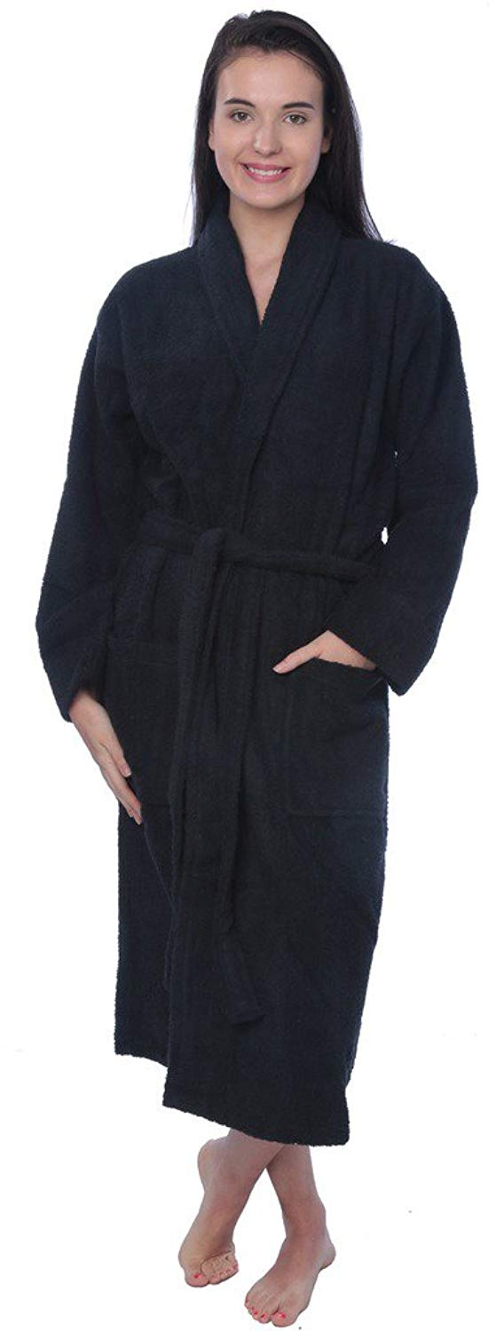Get quotations womens cotton shawl collar robe terry cloth bathrobe  available in plus size jpg 568x1500 95768370d