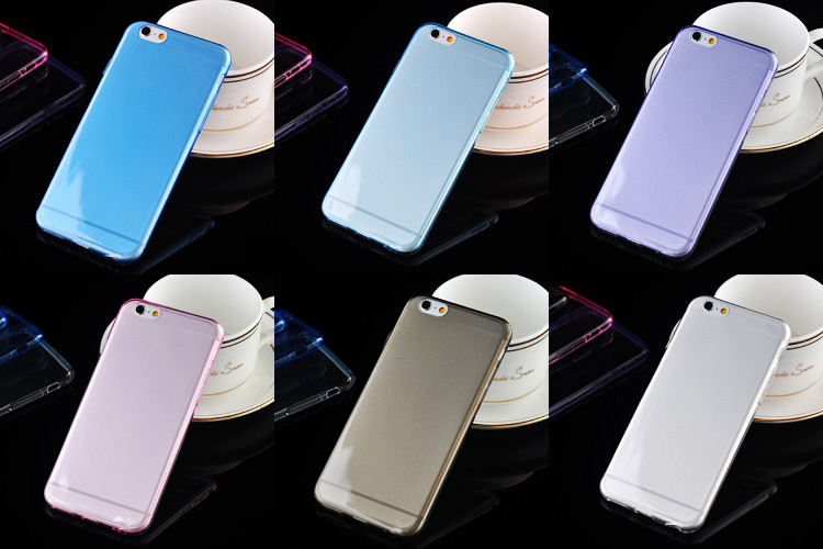 New Products 0.3mm Soft Crystal Transparent Mobile phone Cover Ultra Thin TPU Case For iPhone 6
