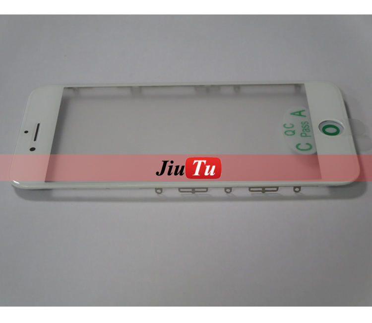 For ipone 7 Phone Outer Glass Lens With Cold Pressed Frame Bezel With OCA Film Used For Lcd Repair Machine