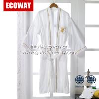 100% cotton soft hotel waffle bathrobe cheap spa bath robe