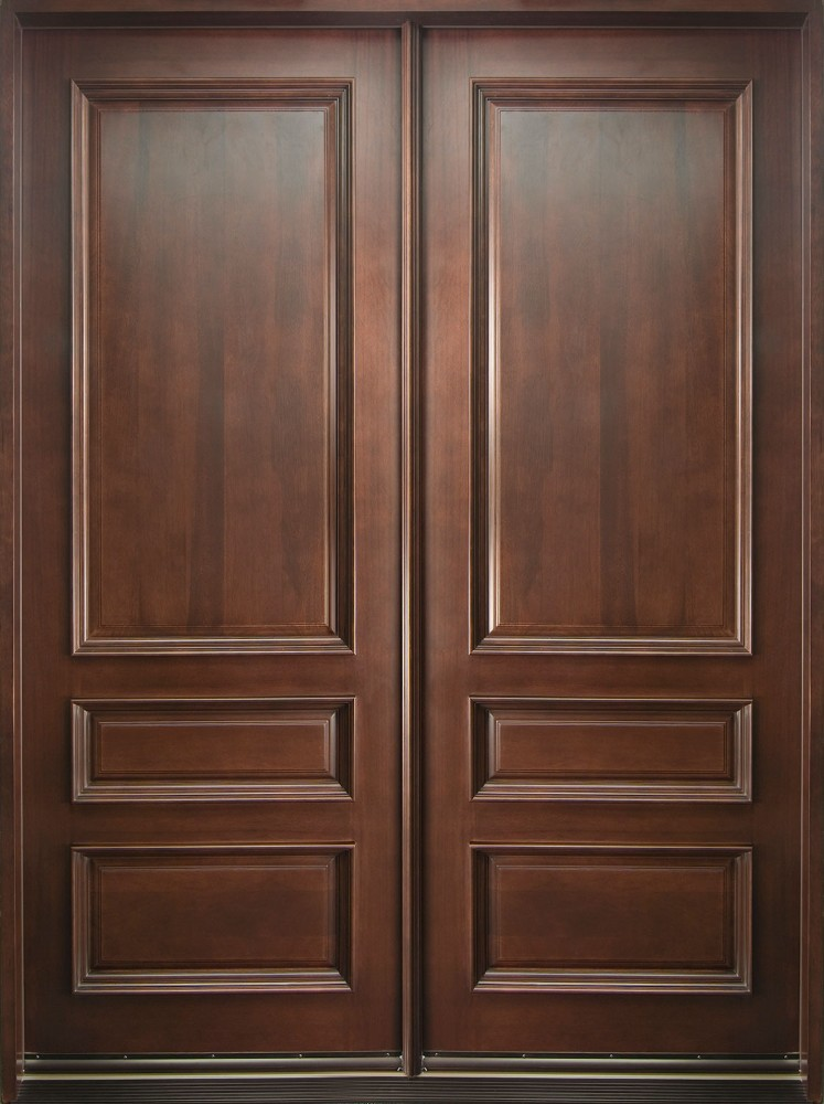 Madera maciza frente de entrada puerta principal dise o for Puertas de madera maciza exterior