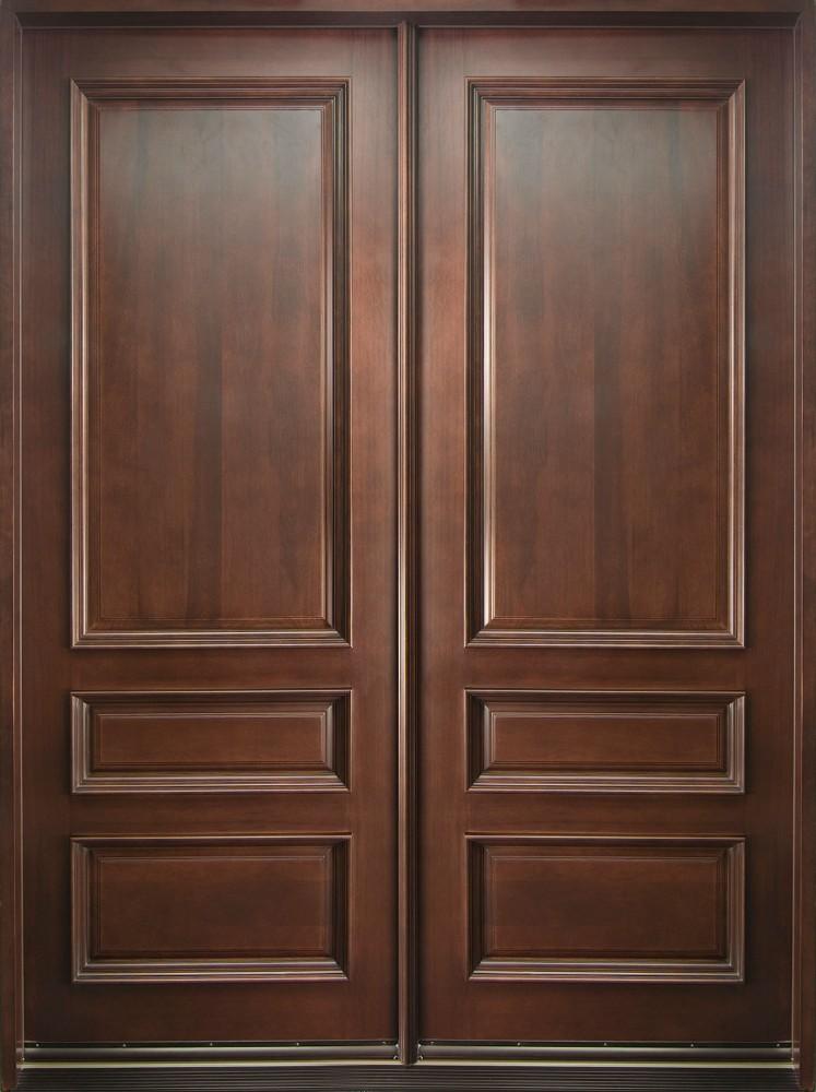 Madera maciza frente de entrada puerta principal dise o for Precio puertas interior madera maciza