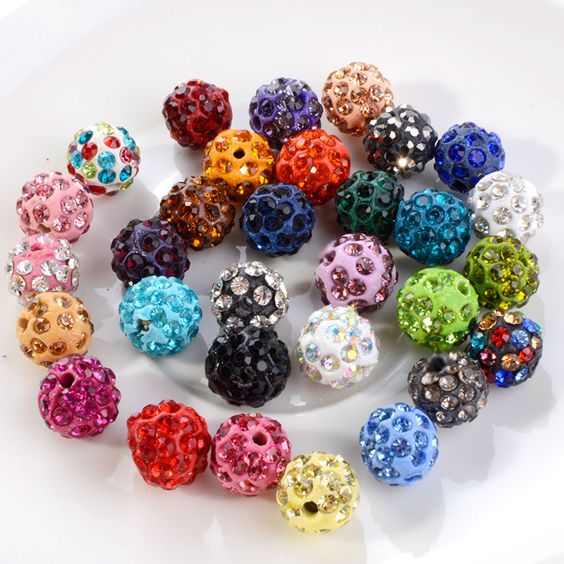 Manufacturer Supply Crystal Rhinestone Disco Clay Pave Loose Shamballa Ball Beads for Bracelet Boutique Store