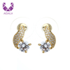 AIDAILA 2019 Trendy High Grade Designer Elegant Gold Micro Pave Zircon Stud Earrings