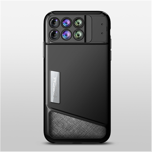 Rock fashion lens kit case camera enthusiasts dual-layer protection shell case for iphone X casing