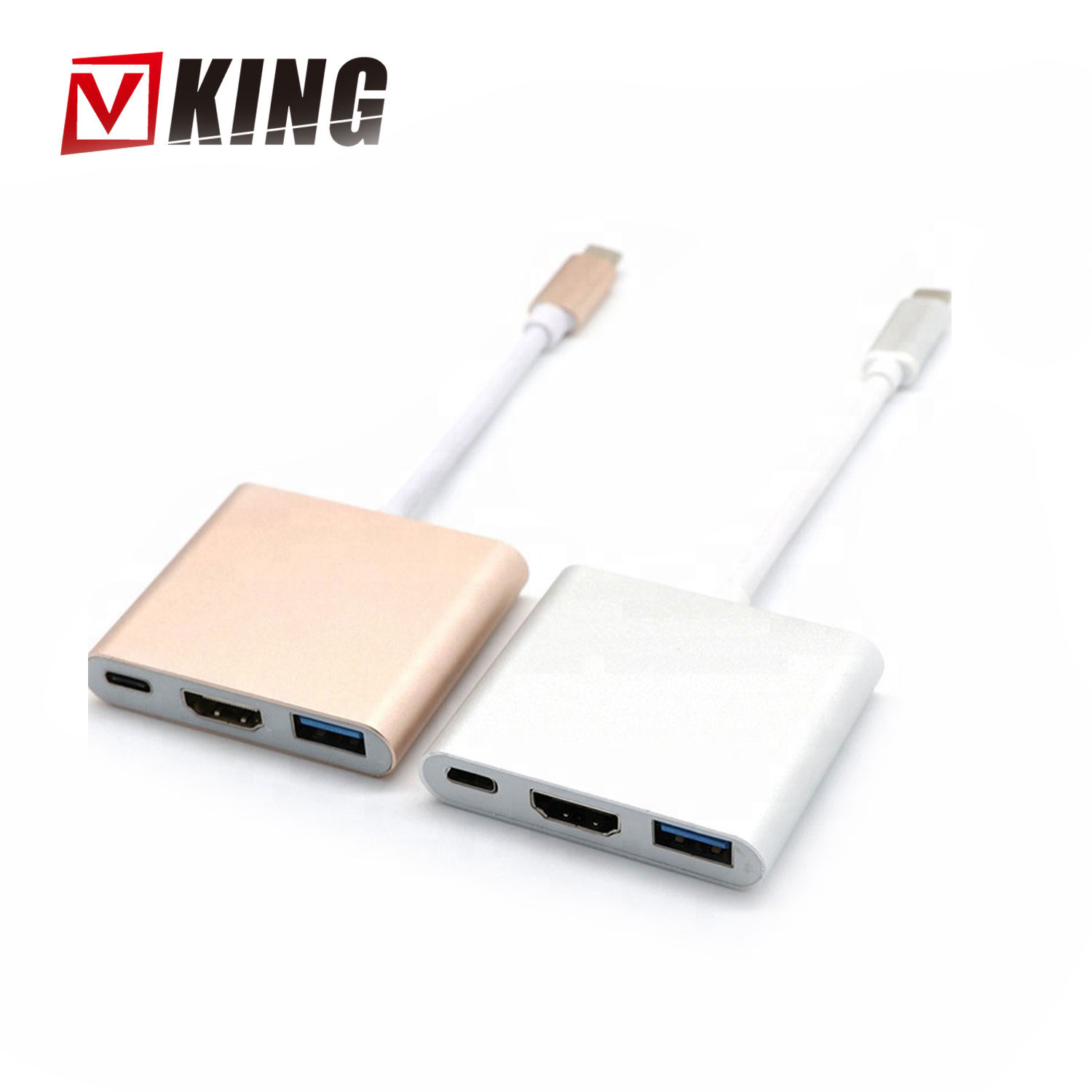 high quality USB 3.0 Type C To HDMI +Type C+USB 3.0 Adapter