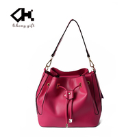 Wholesale Women Soft Leather Bucket Bag