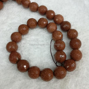"Natural Faceted Gold SandStone / Golden Sand Round Loose Beads 15"" Strand 4 6 8 10 12 MM Pick Size"