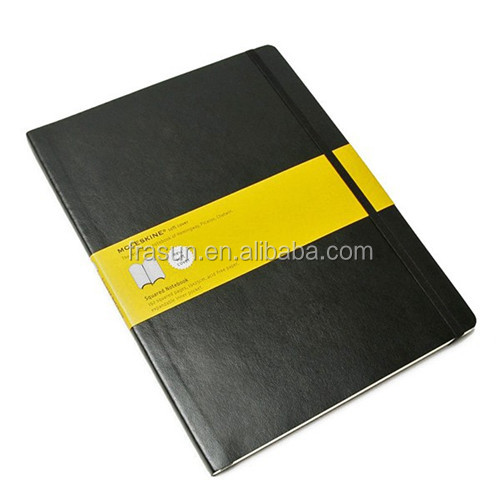 Classical Black Elastic Band Promotional Paper Line Notebook