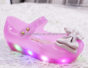 wholesale cheap girls sandals kids jelly shoes led kids light up shoes