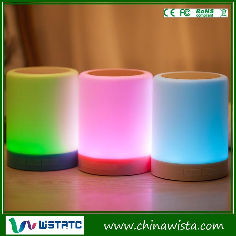 Sweet home audio equipment light up bluetooth speakers with TF card, colorful light and touch lamp