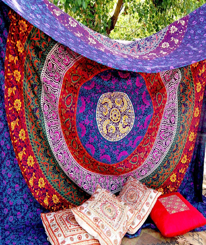Raajsee-Indian Mandala Tapestry,Hippie Tapestry,Bohemian Boho Bedspread Tapestry,Dorm Tapestry,Wall Tapestry,Tapestry Wall Hangings,Tapestry#bs53