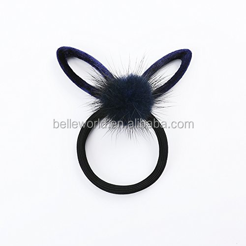 Hair rope Tousheng small fresh rabbit ears hair simple leather ball