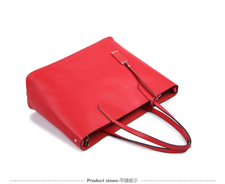 7fc32847049f Wholesale NAWO Red Casual Women Tote Bags Large Capacity Leather ...