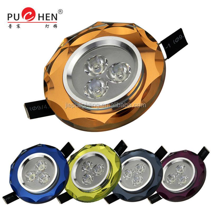 2014 new designHigh Quality Home Crystal LED Ceiling lighting spot light 3w 220v Model PB013