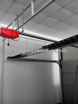 Automatic Sectional Garage Doors With Remote Control Door Opener For Low Headroom Spring In Rear