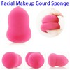 Cosmetic Non-latex Hydrophilic Blending Foundation Facial Makeup Gourd Sponge
