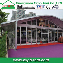 Outdoor Arcum tent curve tent with canopy tent in front