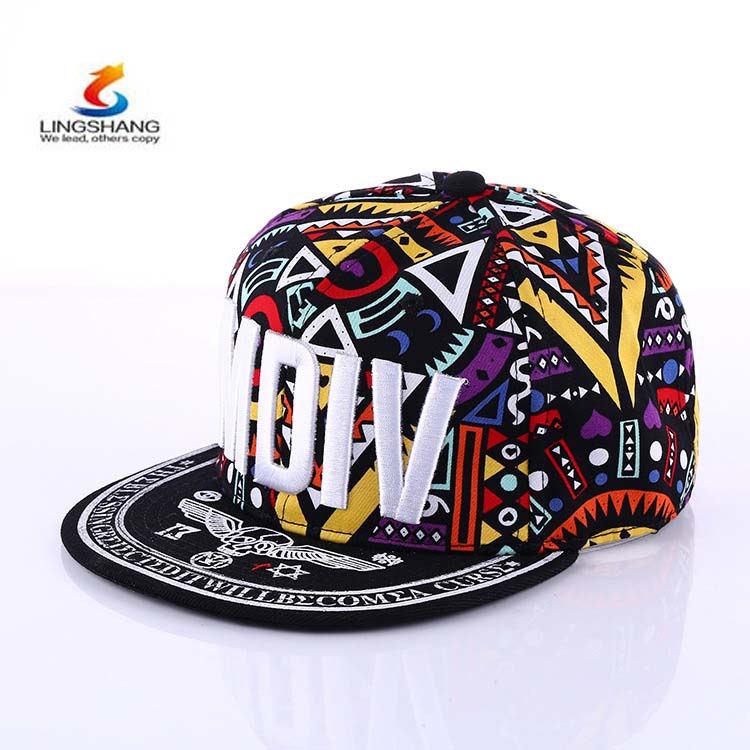 MDIV Words pattern halo dye printed hip hop flat along the <strong>cap</strong> snapback sports hat baseball <strong>cap</strong>