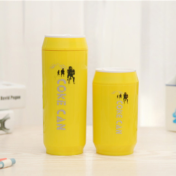 hot selling creative popular stainless steel ziptop can shaped cute coffee travel mugs - Coffee Travel Mugs