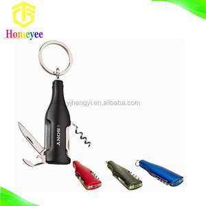 Bottle Shapee Keychain Knife For Promotion Gift