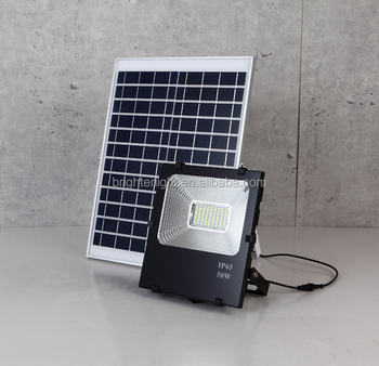 Solar led Flood light with light sensor and remote controller 50W