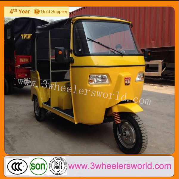 China supplier Chongqing Bajaj Tricycle Passenger With Cabin /Electric Scooter 3 Wheel For Sale
