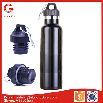 G TR02 All Black Large Insulated Reusable Metal Water Bottle