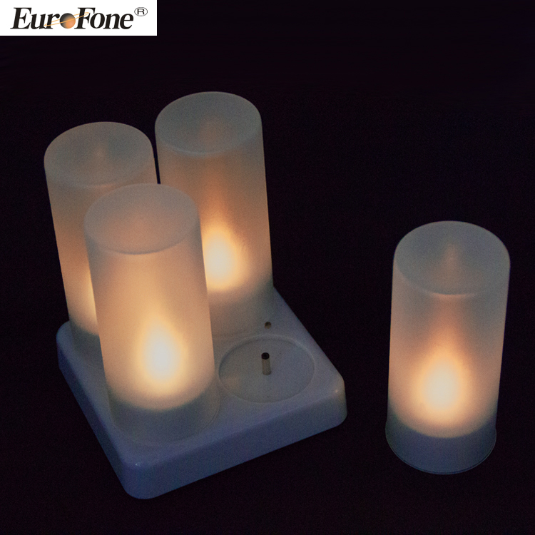 home decorations led tea lights blue color Candle Rechargeable Led Candle Electronic Candle