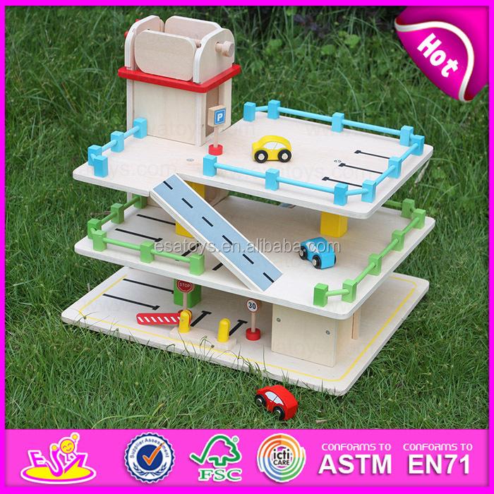 2015 Hot Item Kids Wooden New Year Parking Garage Toy