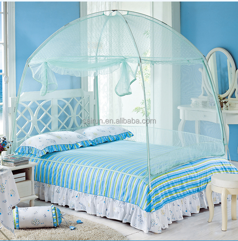 Pop up home make princess folding mosquito tent stand for double bed