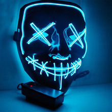 Novo Purge <span class=keywords><strong>Máscara</strong></span> de EL Fio <span class=keywords><strong>Neon</strong></span> LED Light up <span class=keywords><strong>Máscara</strong></span> para a Festa do Dia Das Bruxas