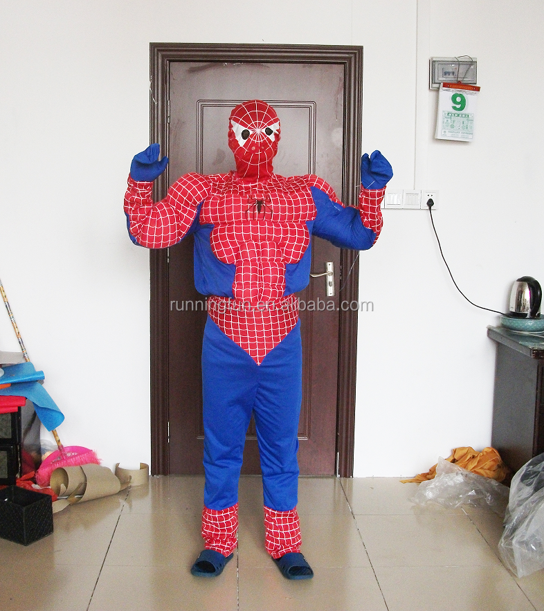 cosplay spider man maskottchen kost m f r erwachsene. Black Bedroom Furniture Sets. Home Design Ideas