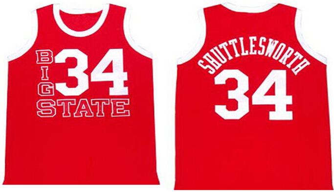 Buy jesus shuttlesworth jerseys lincoln got game movie jersey mens cheap  red basketball jersey free shipping 19d7f659d