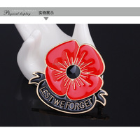 LEST WE FORGET red poppy brooch