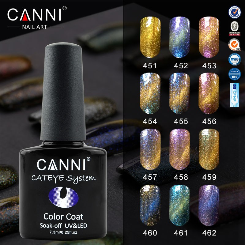 51024j Canni Nail Art Design 7.3ml 12 Colors Metal Mirror Effect ...