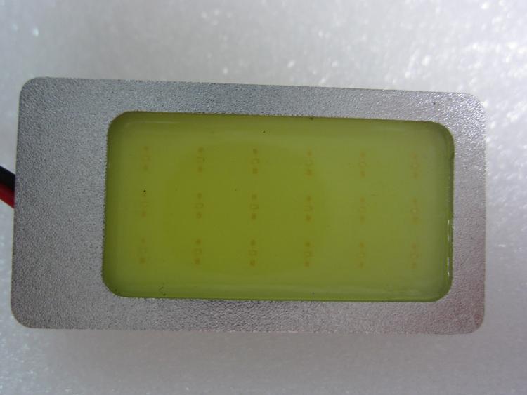 9 Вт COB чип из светодиодов салона с матовой алюминиевой T10 купола фестона адаптер 12 В авто автомобиля из светодиодов панель