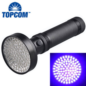Ultraviolet Detector 395nm Blacklight Purple Light 100 LED UV Flashlight 100 LED UV Torch
