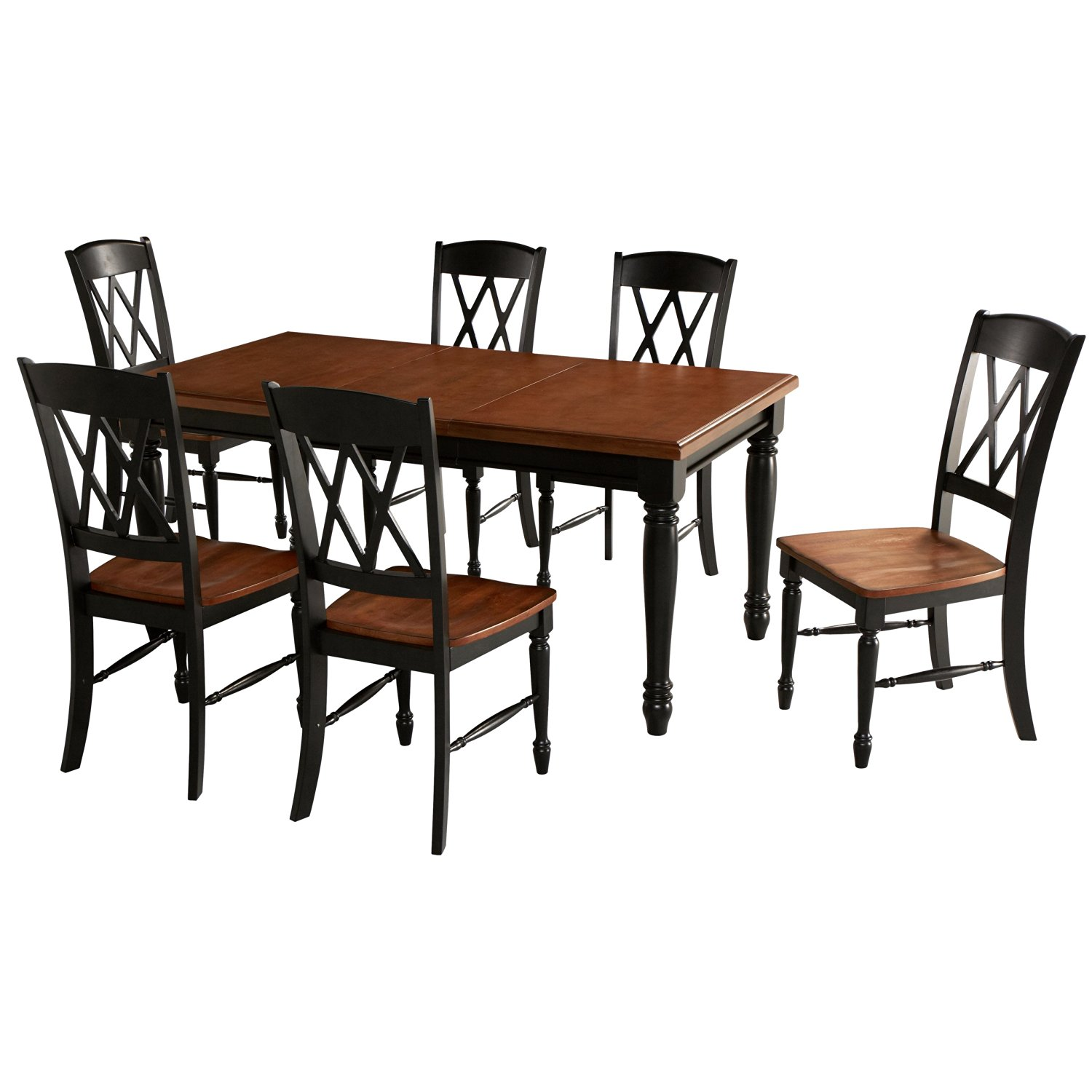 Get Quotations · Home Styles 5008 309 Monarch Rectangular Dining Table And  6 Double X Back Chair