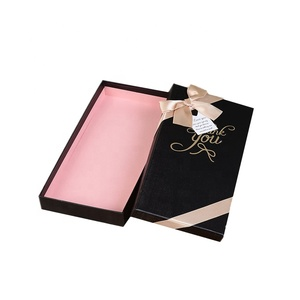 New beauty hot stamping scarf gift package box with custom logo printing and ribbon