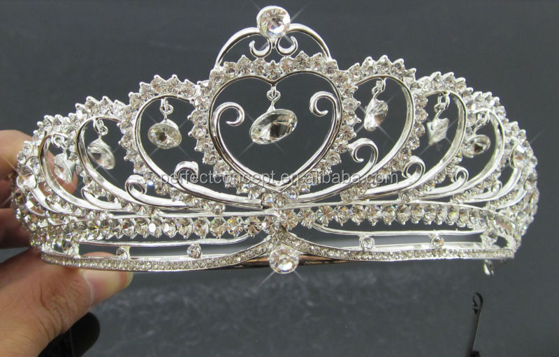 Fashion glass stone wave swirl bridal tiaras wedding jewelry tiara