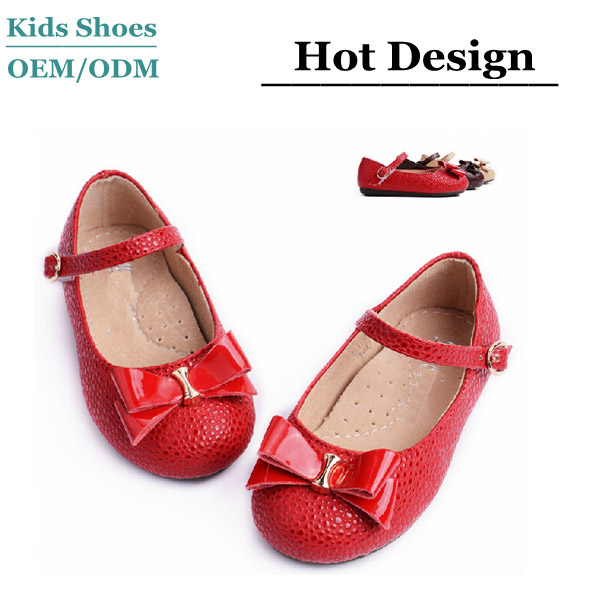 Red Patent Leather Fashion Girls Dress Shoes Nude Children Durable ...