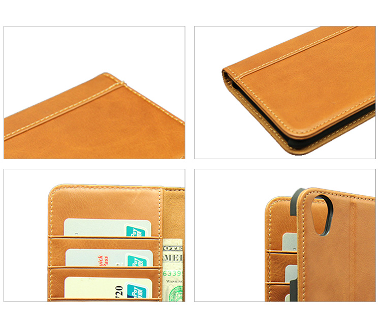 New wholesale design unique and fashion genuine leather flip wallet phone case for Sharp AQUOS Audroid one X4