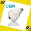 Factory price 360 degree cctv p2p wireless ip network mini hidden spy security video wifi light bulb camera with motion sensor