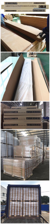 Suelo de madera de ingeniería europea de roble blanco/madera maciza con manchas químicas