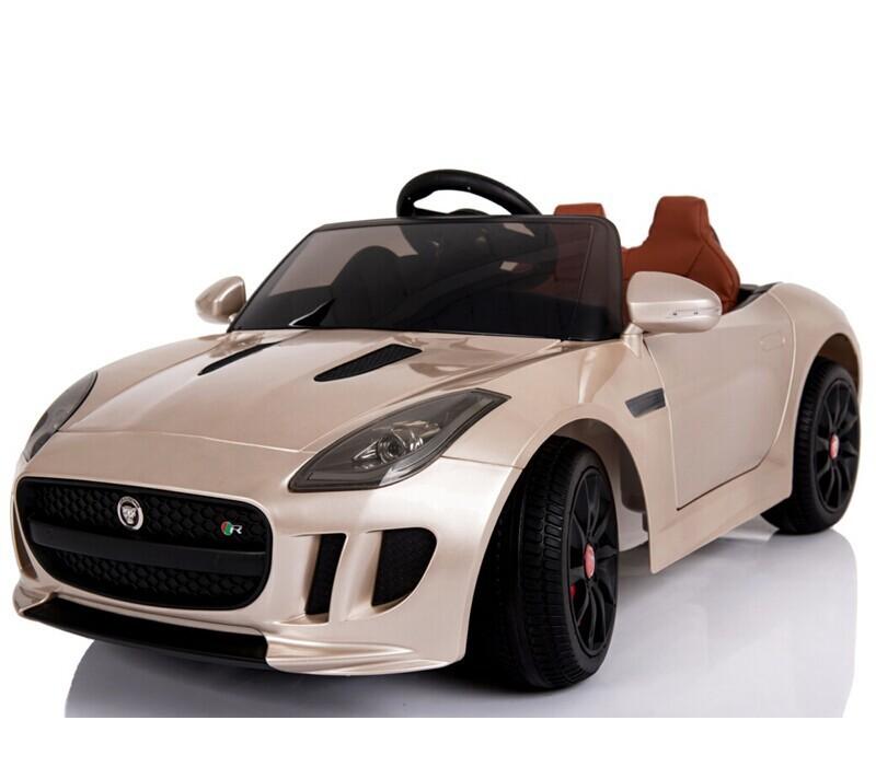 Champagne Jaguar Licensed 12v Kids Ride On Car Battery Powered ...
